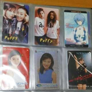 日本9張電話卡