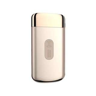 2018全新技術無線電源充電寶LED顯示屏 電筒照明 雙位USB有線快速充電 金色 10000mAh 2.1A LED Display Quick Fast Charge Wireless Charging With Torch Dual USB Port Mobile Portable Power Bank ( Gold Color ) For iPhone X 8 Plus Samsung Galaxy S8 Plus Note 8 Nokia LG HTC Huawei ( Joyroom )