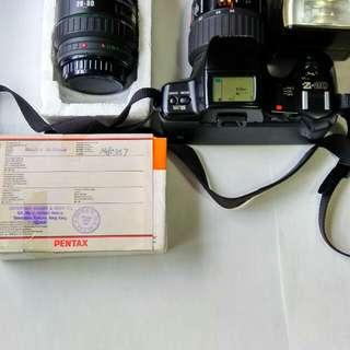 賓得數碼菲林相機兩支鏡及BODY閃灯全套9成新