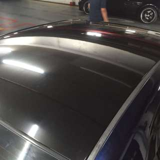 Super gloss black roof wrap