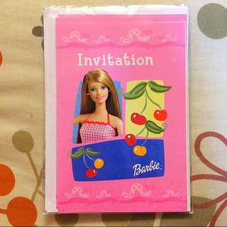 Barbie 邀請咭連信封 Invitation Cards With Envelopes