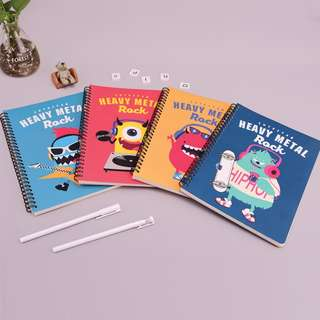 Cute Star Heavy Metal Spiral Ruled Notebook B5