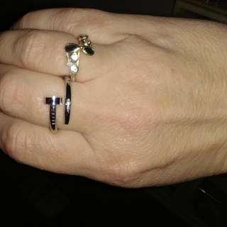 Rare & Unique Cartier White Gold Nail Ring