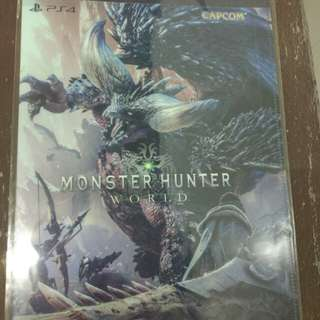Limited Edition Monster Hunter World PS4 collectors bag/folder