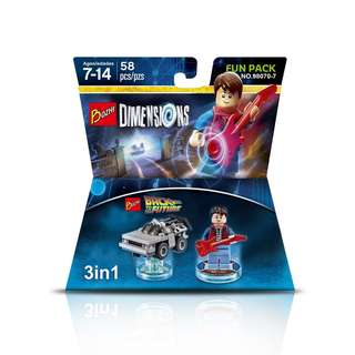 BOZHI 98070-7 Dimensions 3in1 Back to the Future Time Machine