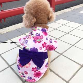 BN Pretty Spring Time CNY Chinese New Year Cherry Blossoms Kimono Pets Dress - Dogs/ Cats