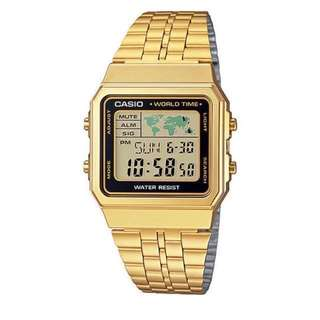 BRAND NEW: Casio World Time Watch (Gold)