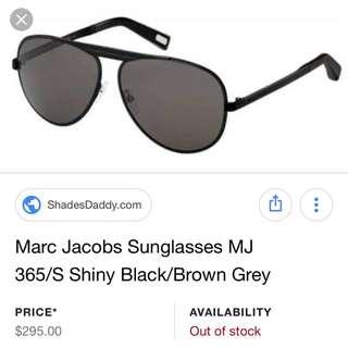 Marc Jacobs Sunglasses MJ 365/s Shiny Black