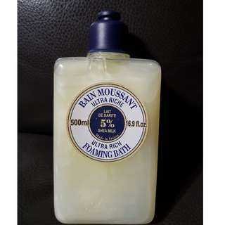 Get a nice shower! Ultra rich shea butter foaming bath