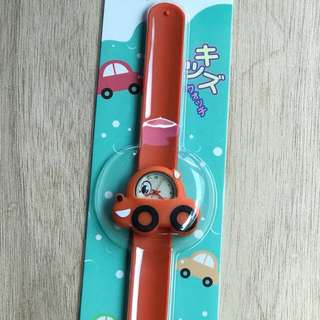 Miniso watch children watch miniso jam tangan anak orange car