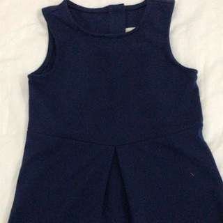 Size 6 navy blue simple casual dress