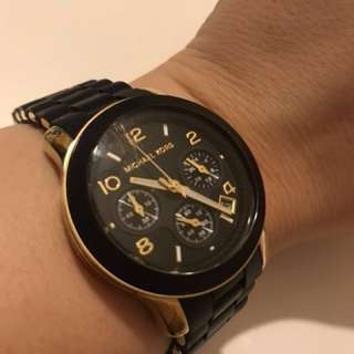 MK watch black gold authentic