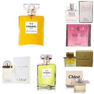 Chanel Dior Buberry Chloe Versace香水