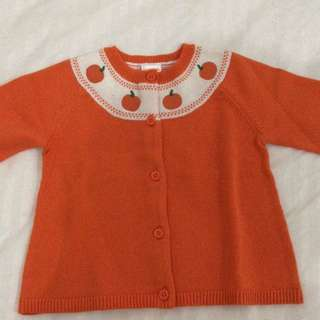 Orange sweater for 12-18months toddler