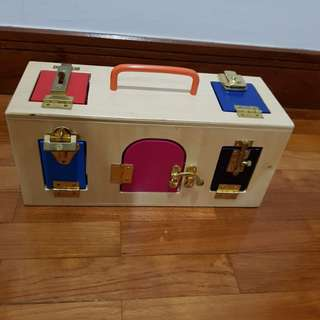 montessori busy toy