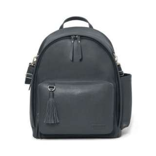 SKIP HOP GREENWICH SIMPLY CHIC BACKPACK IN SMOKE GREY