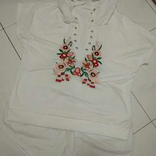 Embroidery Top & Short (set)