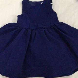 Navy blue party dress for 12-18months old baby