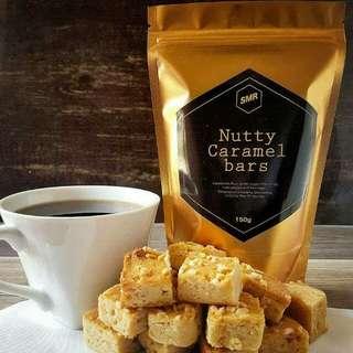 Nutty caramel bars 💓