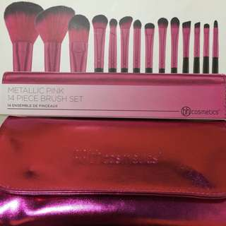 Metallic Pink Brush Set