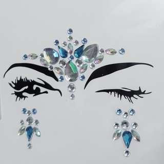New Listing Jewel Eyes Makeup Crystal Eyes Sticker Tattoo Eyeliner Diamond Glitter Makeup Sticker Bridal Party Makeup Decoration Cosmetic rhinestone crystal