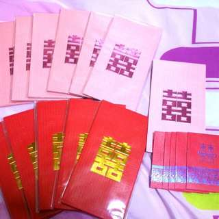 Brand New Wedding Ang Bao Pack..   Available in Red And Pink. (11 Pack Each)   6 Pieces In Each Pack.  $2 Per Pack.