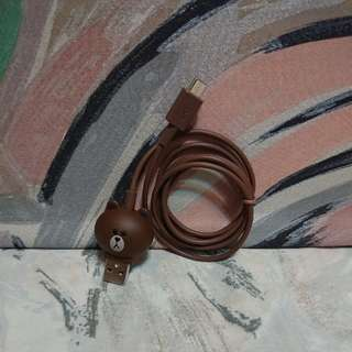 LINE FRIENDS (Brown) usb cable