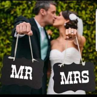 Mr & Mrs Thin Cardboard