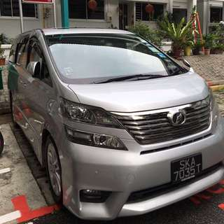 Vellfire Car For Rent