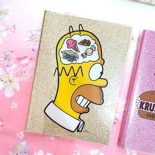 [NEW] Typo The Simpsons Glitter Edition Notebook (A5)