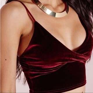 Sexy Red Velvet Crop Tanktop