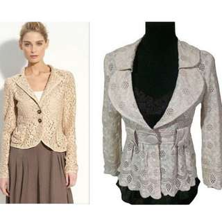 MARC JACOBS LACE AND CUTOUT BLAZER