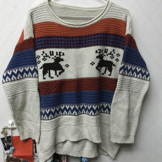 耶誕風厚質毛衣