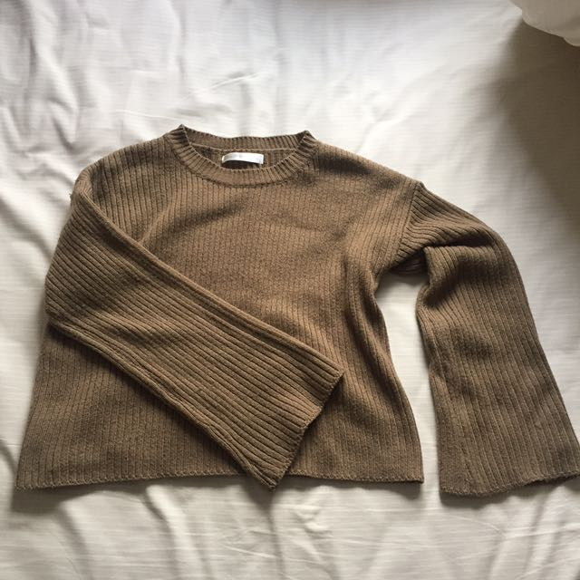 沼澤綠寬袖毛衣