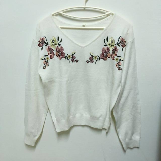 日本刺繡針織毛衣羊毛成份