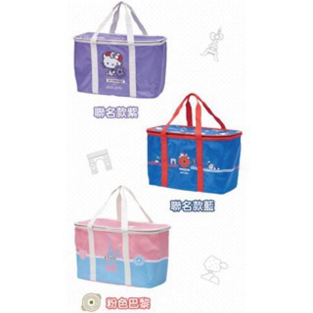 便宜賣 免運 最後一個 7-11 kitty 野餐籃 聯名紫