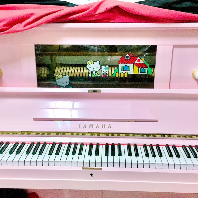 日本 三葉 YAMAHA 粉色 夢幻 鋼琴