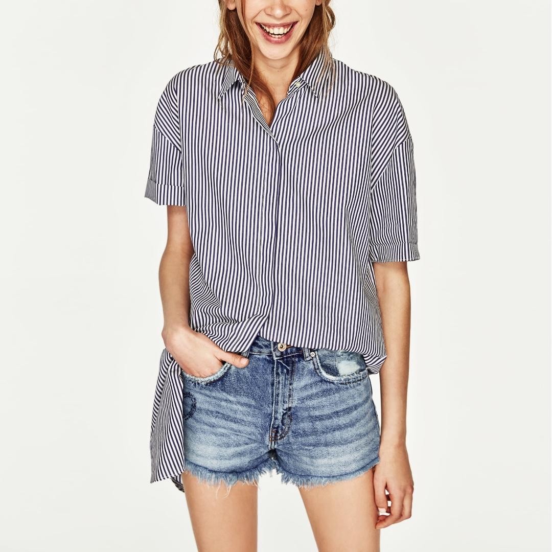 a297c53029 AUTHENTIC ZARA High Rise Denim Shorts, Women's Fashion, Clothes ...