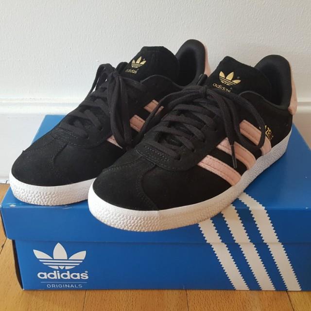 Adidas Gazelle Black and Pink (Size 6.5