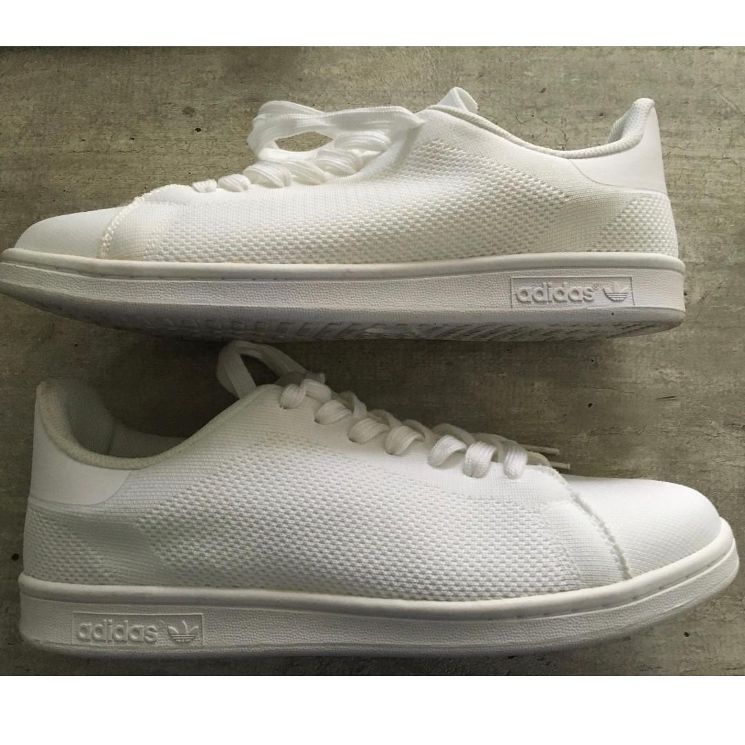 premium selection c4b34 1829f ADIDAS STAN SMITH Primeknit Triple White, Men's Fashion ...