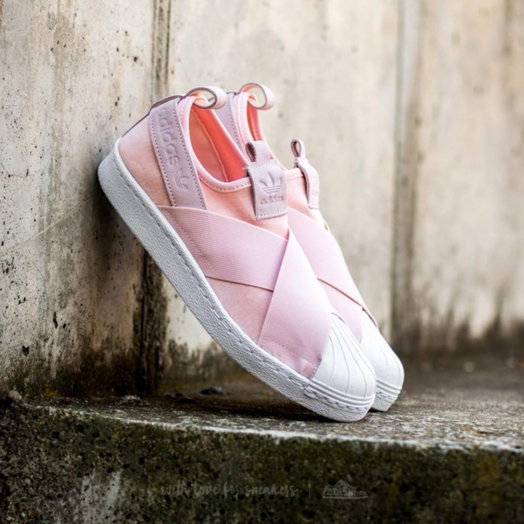 san francisco f797f 11a28 Adidas Superstar Slip On '' Halo Pink ''