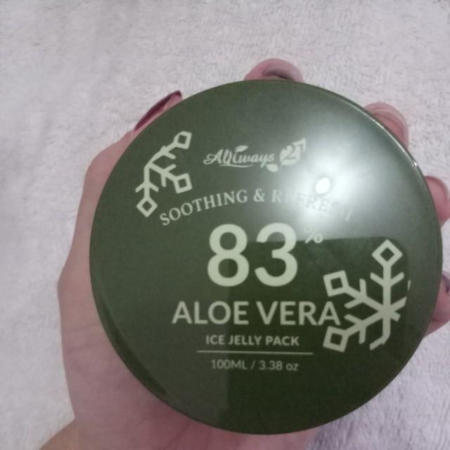 Aloe vera 83% ice jelly pack