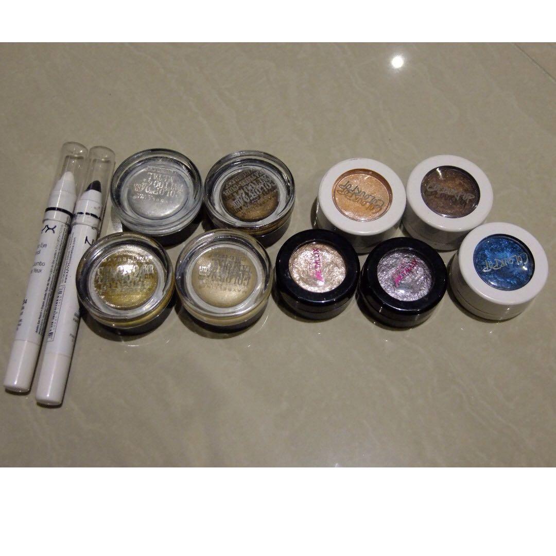 Assorted Eyeshadows (Colourpop, Maybelline, Australis, NYX)