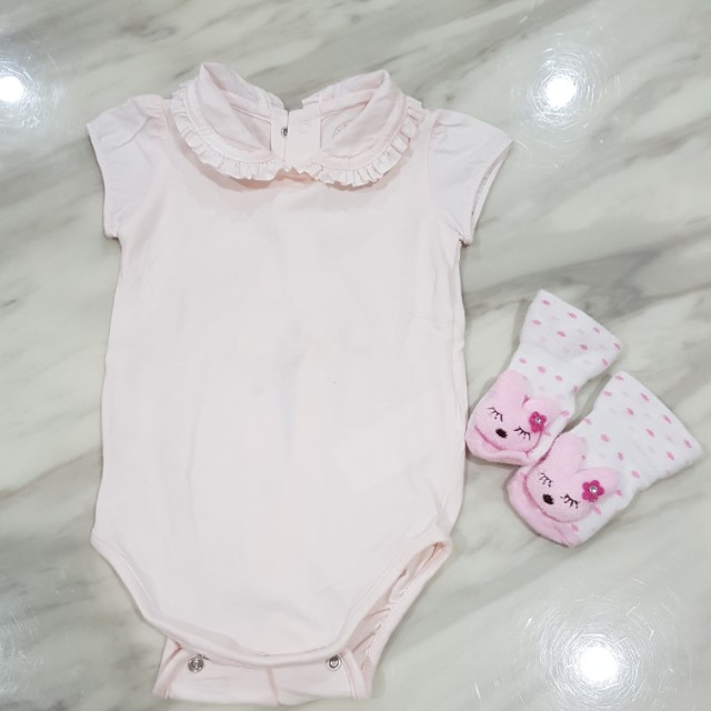 1cd5be0009eb Authentic Burberry Baby Girl Romper, Babies & Kids, Girls' Apparel ...