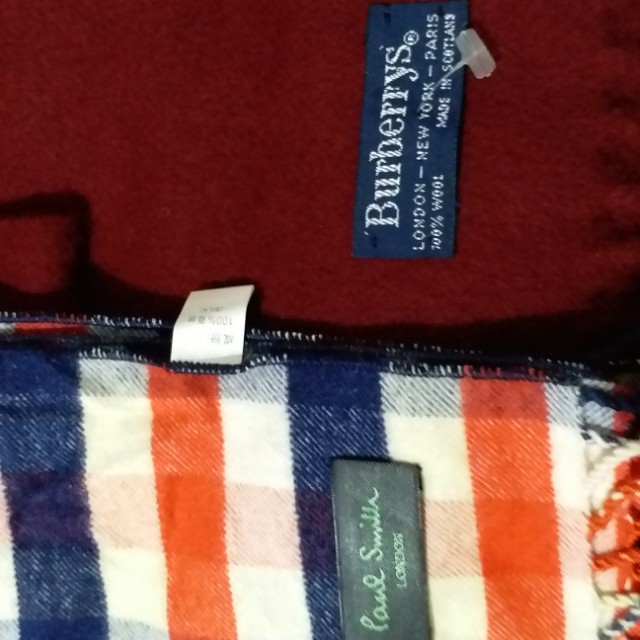 Authentic Burberrys Muffler Scarf and Paul Smith Muffler scarf.
