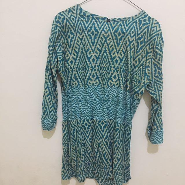 Awaltahun Baju Batik Hijau Tosca