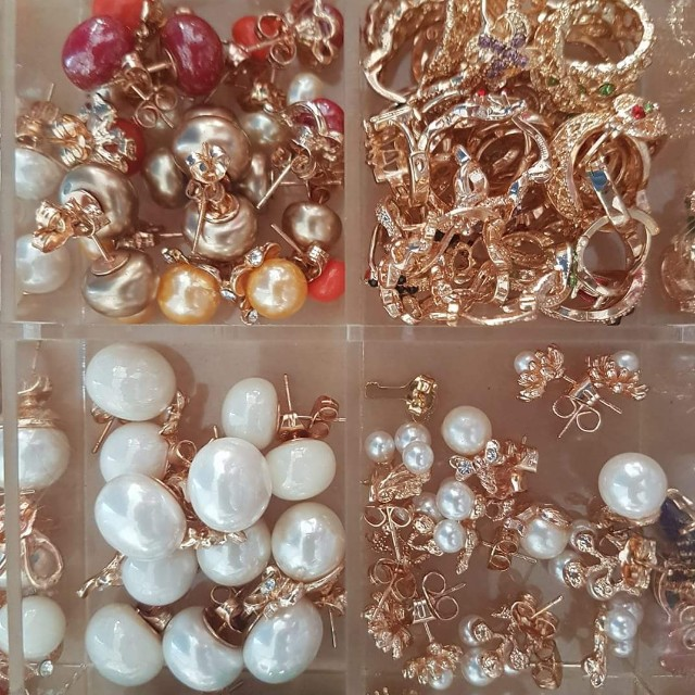Bangkok Rose Gold Earings Wholesale Business