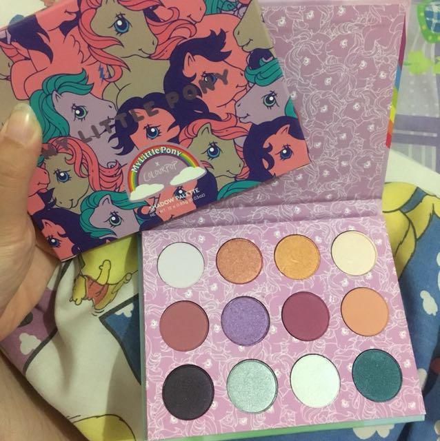 BARU my little pony eyeshadow palette colourpop