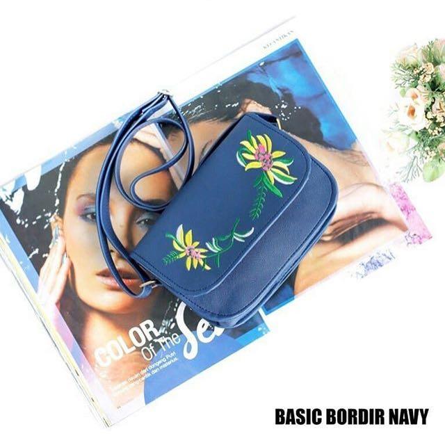 Basic bordir navy