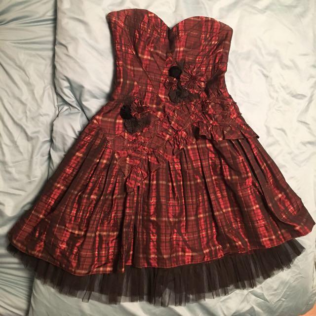 BCBG plaid dress